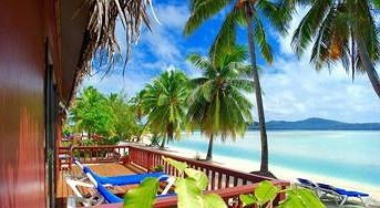 water tree Resort palm leisure caribbean Beach swimming pool Villa eco hotel porch Deck colorful shore