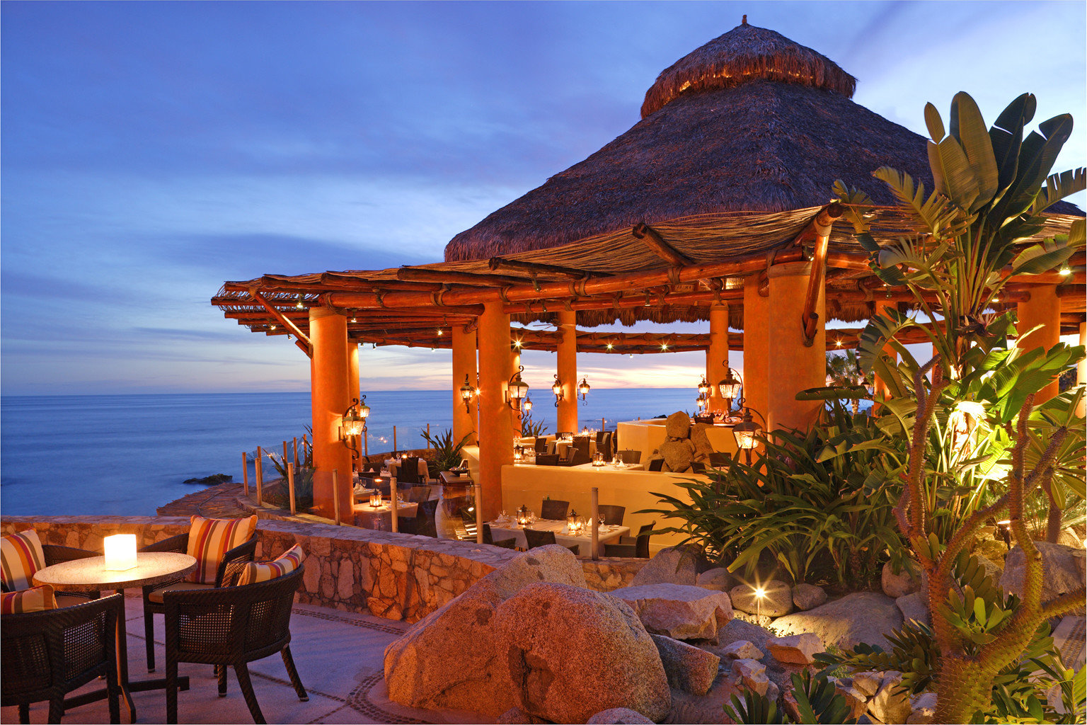 Dining Drink Eat Honeymoon Luxury Romance Romantic Scenic views Tropical Waterfront sky chair Resort Beach Villa set overlooking shade