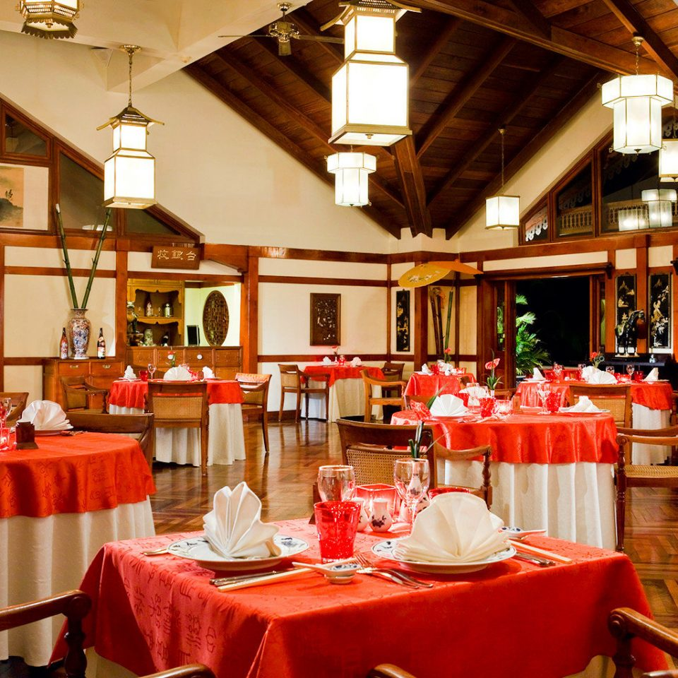 Beach Dining Family Modern function hall restaurant red banquet Resort