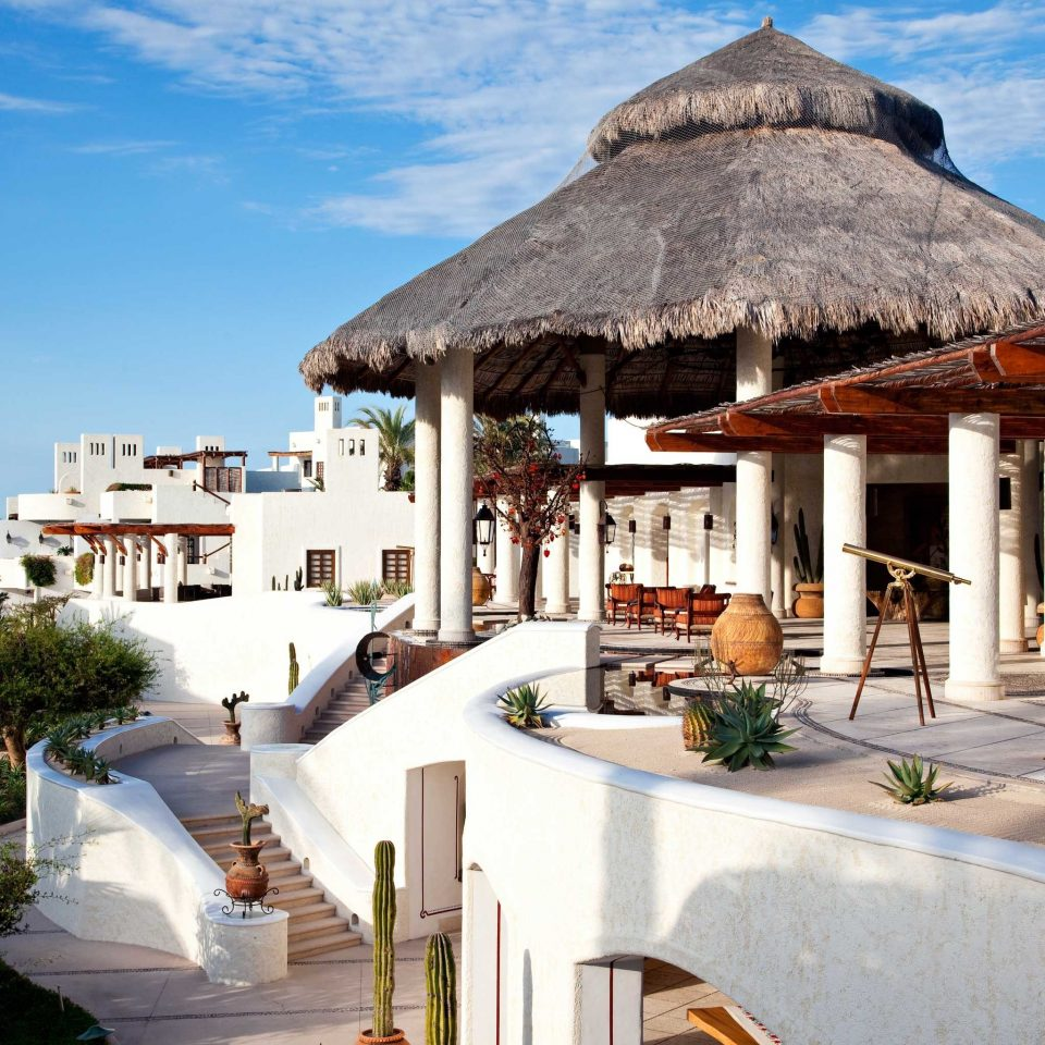 Beach Elegant Exterior Honeymoon Hotels Lounge Luxury Luxury Travel Mexico Modern Romance Romantic Tulum sky building property house Resort home Villa restaurant cottage hacienda Island