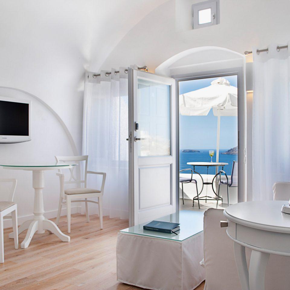 Beach Elegant Greece Hip Hotels Islands Lounge Luxury Luxury Travel Patio Santorini Trip Ideas property Suite cottage