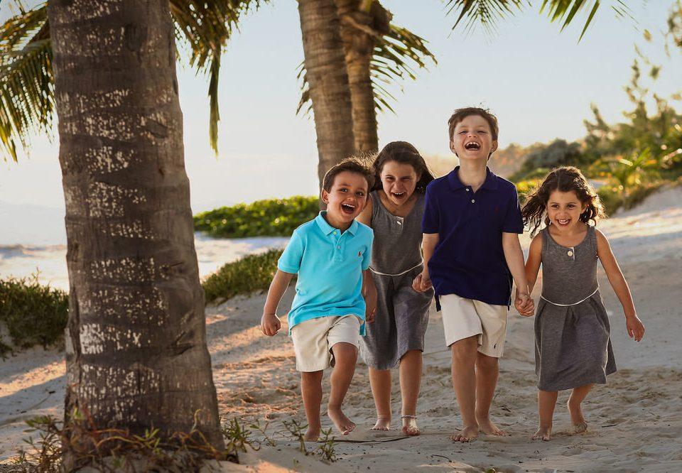 tree ground sky Beach standing plant posing Family child sandy
