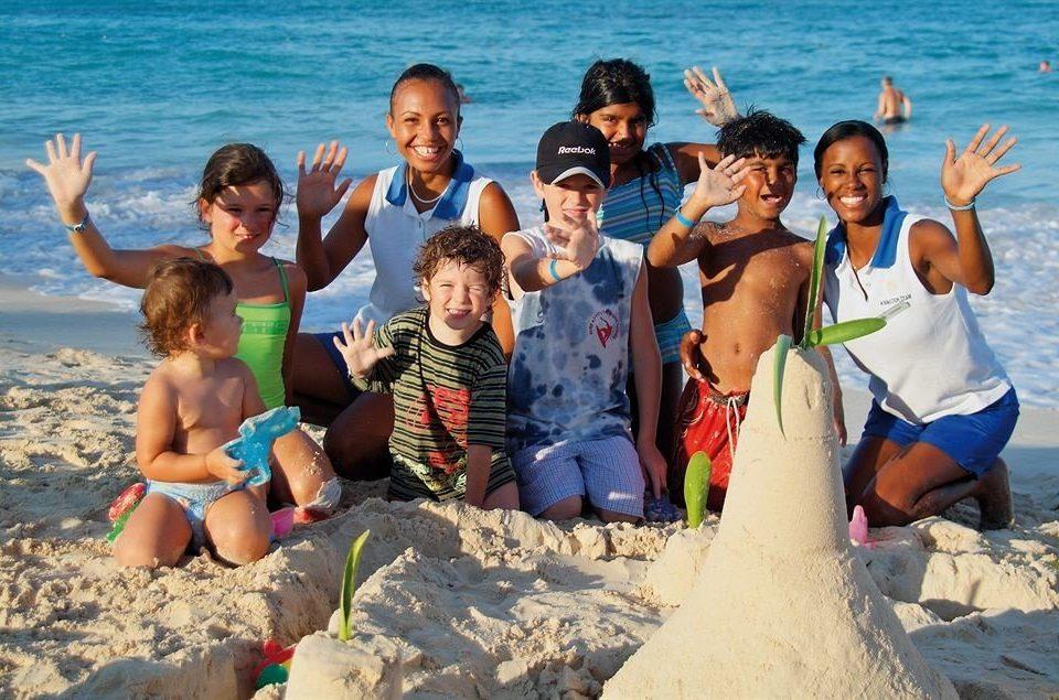 water Beach social group Sea group spring break Family caribbean shore sandy