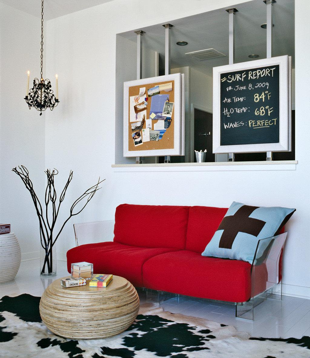 Beach Hip Lobby Lounge living room red home modern art