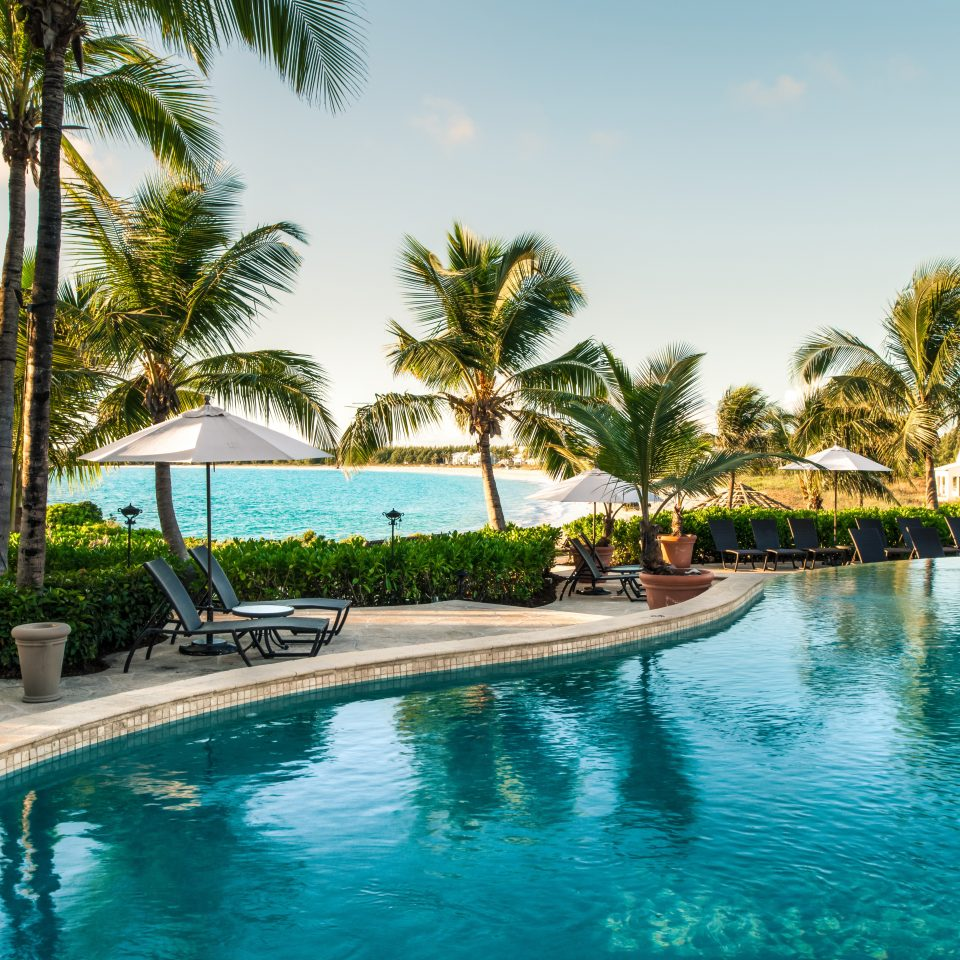 Honeymoon Hotels Pool Resort Romance Wellness tree water sky palm Beach swimming pool property leisure caribbean arecales resort town Lagoon tropics Villa Lake lined swimming plant empty sandy surrounded