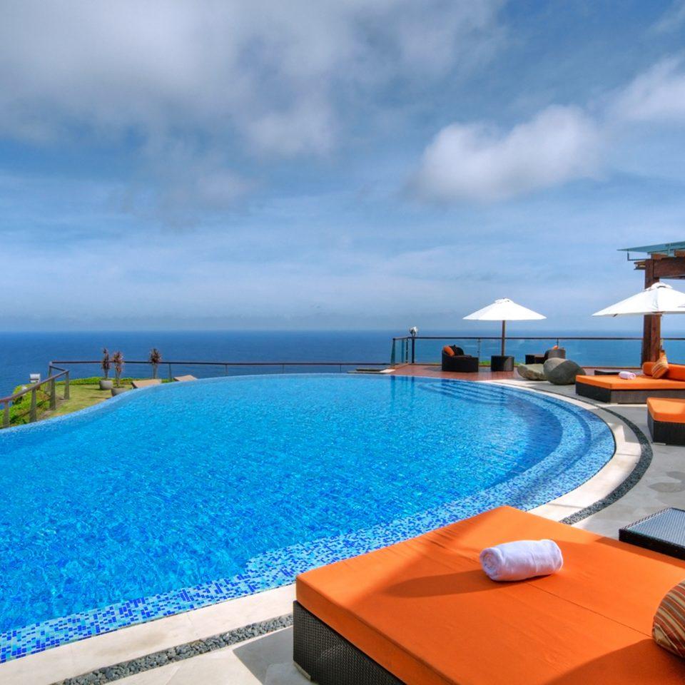 Honeymoon Luxury Pool Romance sky water swimming pool property leisure caribbean Resort Sea Ocean Villa Beach Lagoon orange