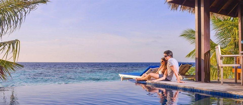 water sky leisure caribbean Beach Resort Sea Ocean swimming pool Honeymoon shore