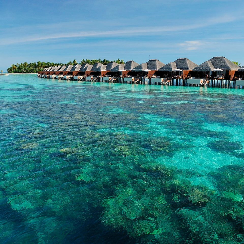 sky water Sea Ocean archipelago Lagoon Island islet reef caribbean Nature blue atoll Beach tropics cay swimming coral reef