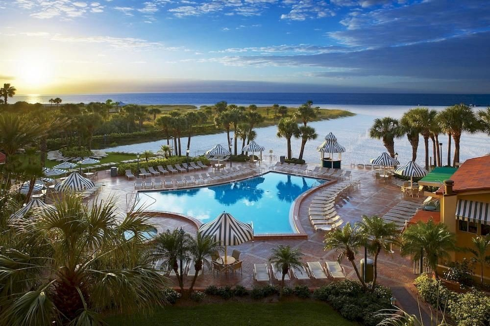 sky water Resort property swimming pool Nature caribbean Lagoon Villa Beach shore Sea mansion sandy