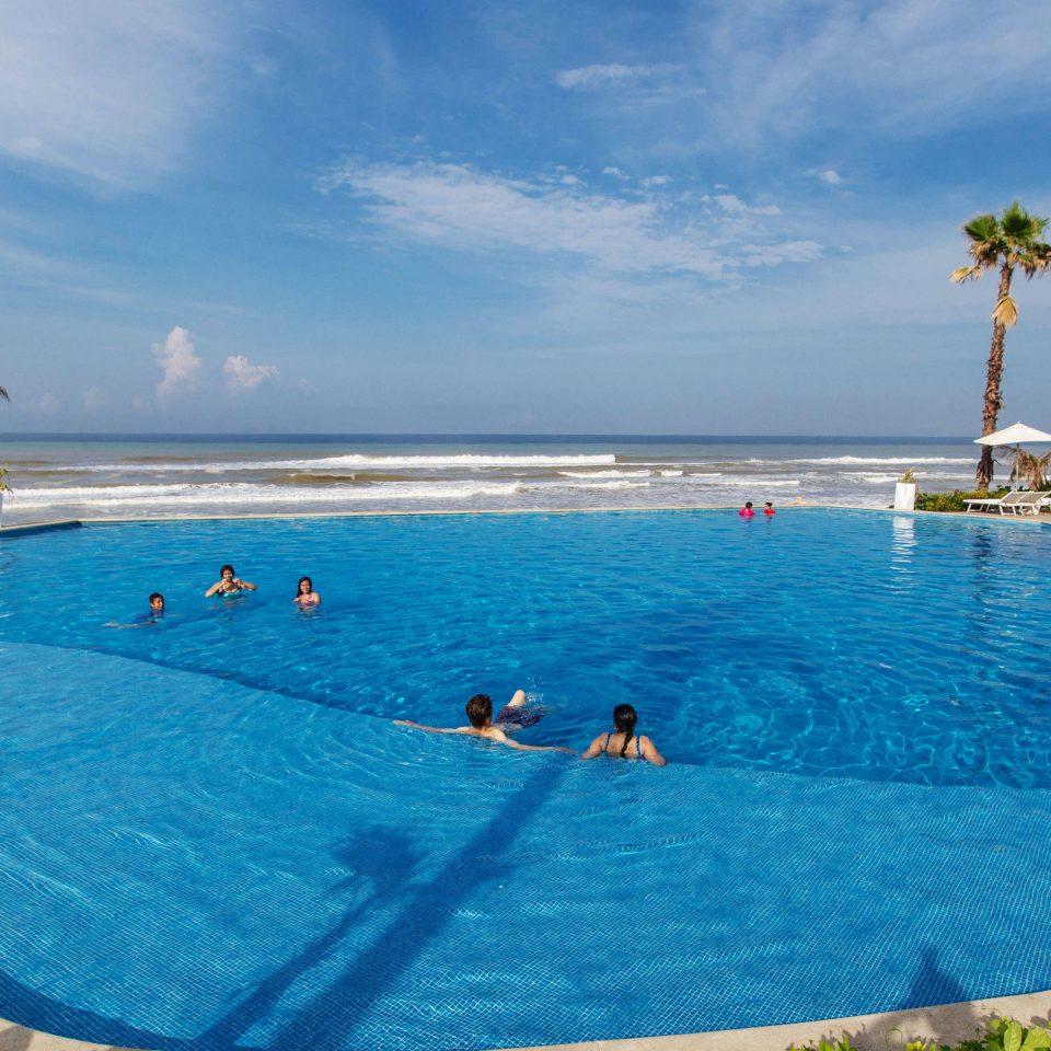 water sky swimming pool leisure swimming Sea Pool Resort water sport caribbean Ocean Lagoon blue Beach shore day
