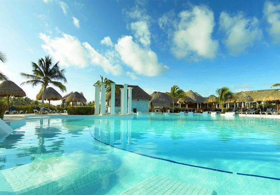 sky water swimming pool blue Pool leisure Resort property caribbean Ocean Lagoon Sea resort town Beach Water park swimming shore day
