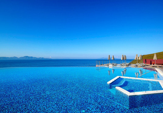sky water blue Ocean swimming pool Sea horizon Beach Resort Lagoon caribbean shore