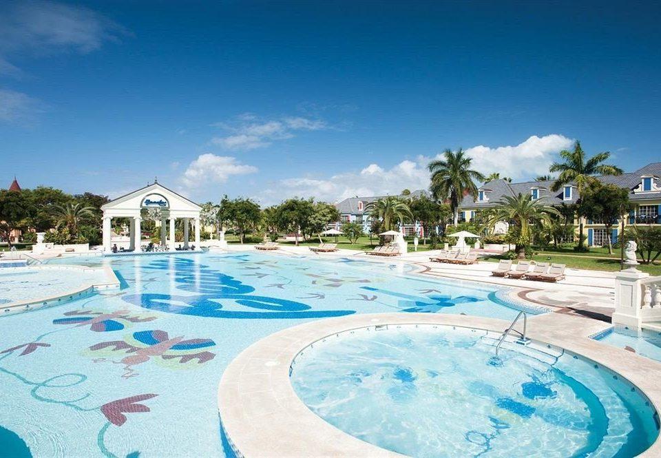sky Pool swimming pool leisure Resort property Beach caribbean Water park resort town Lagoon swimming lawn