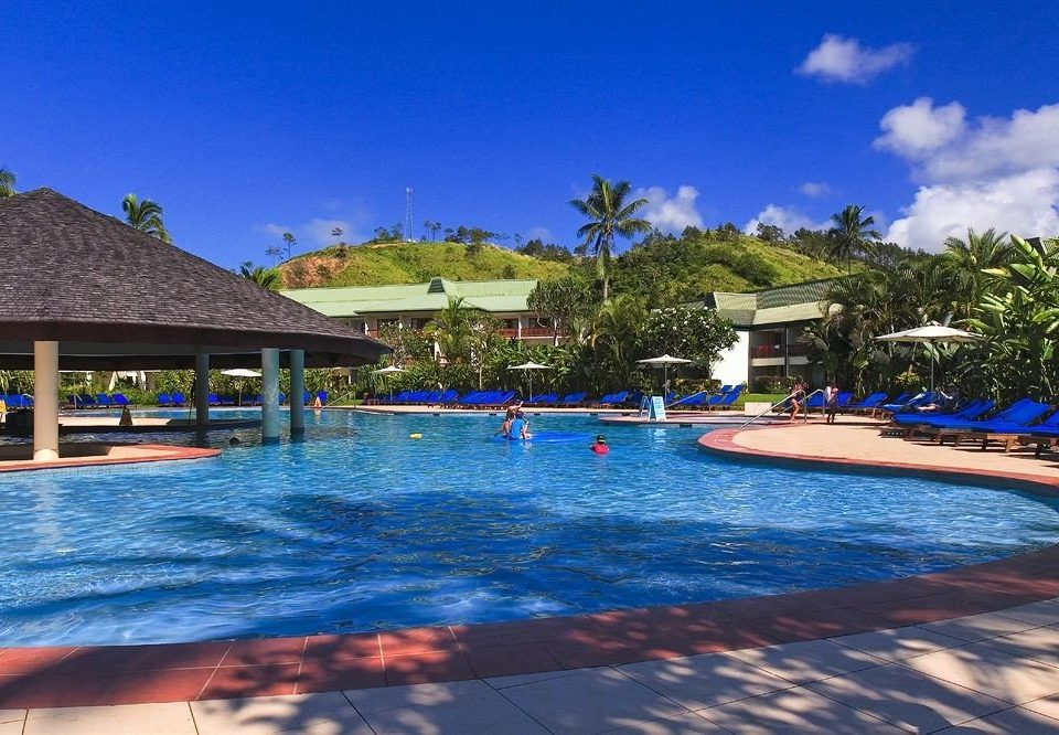 water sky swimming pool leisure Resort house resort town blue Sea Lagoon Water park Beach Pool Villa swimming colorful lined shore colored