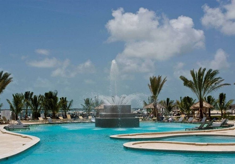 water sky swimming pool Resort caribbean arecales Pool Sea Lagoon resort town Water park palm Beach amusement park marina blue swimming shore lined day