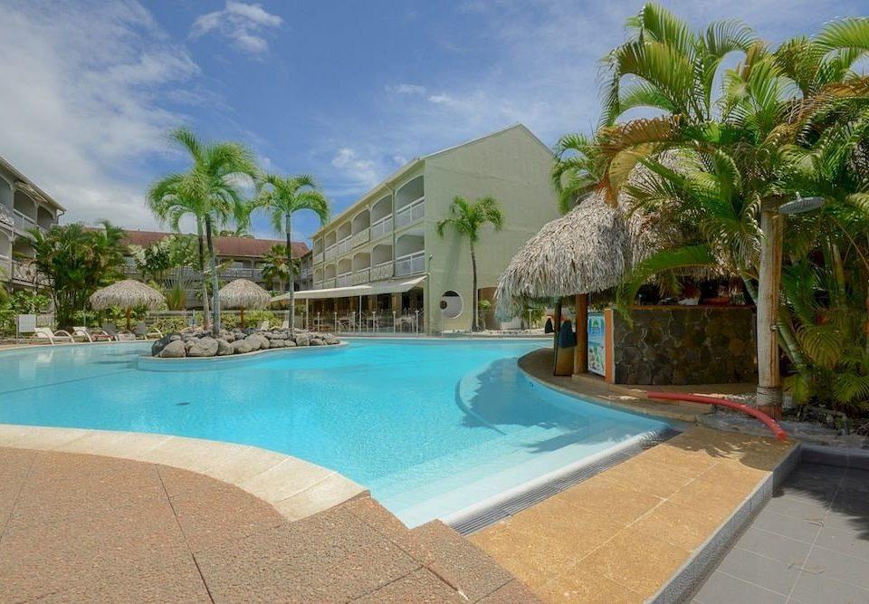 sky swimming pool property Resort leisure Pool building caribbean Villa resort town Beach condominium Lagoon hacienda empty