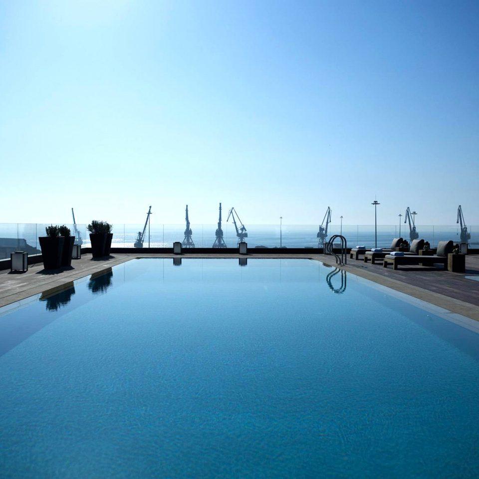 Lounge Luxury Modern Pool sky water swimming pool horizon Sea marina dock scene Ocean dusk Beach highway