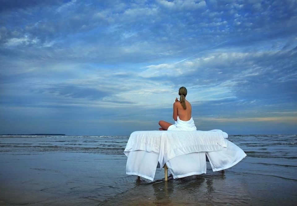 sky water photograph blue horizon Sea Nature Ocean morning ceremony sunlight Romance Beach bride shore