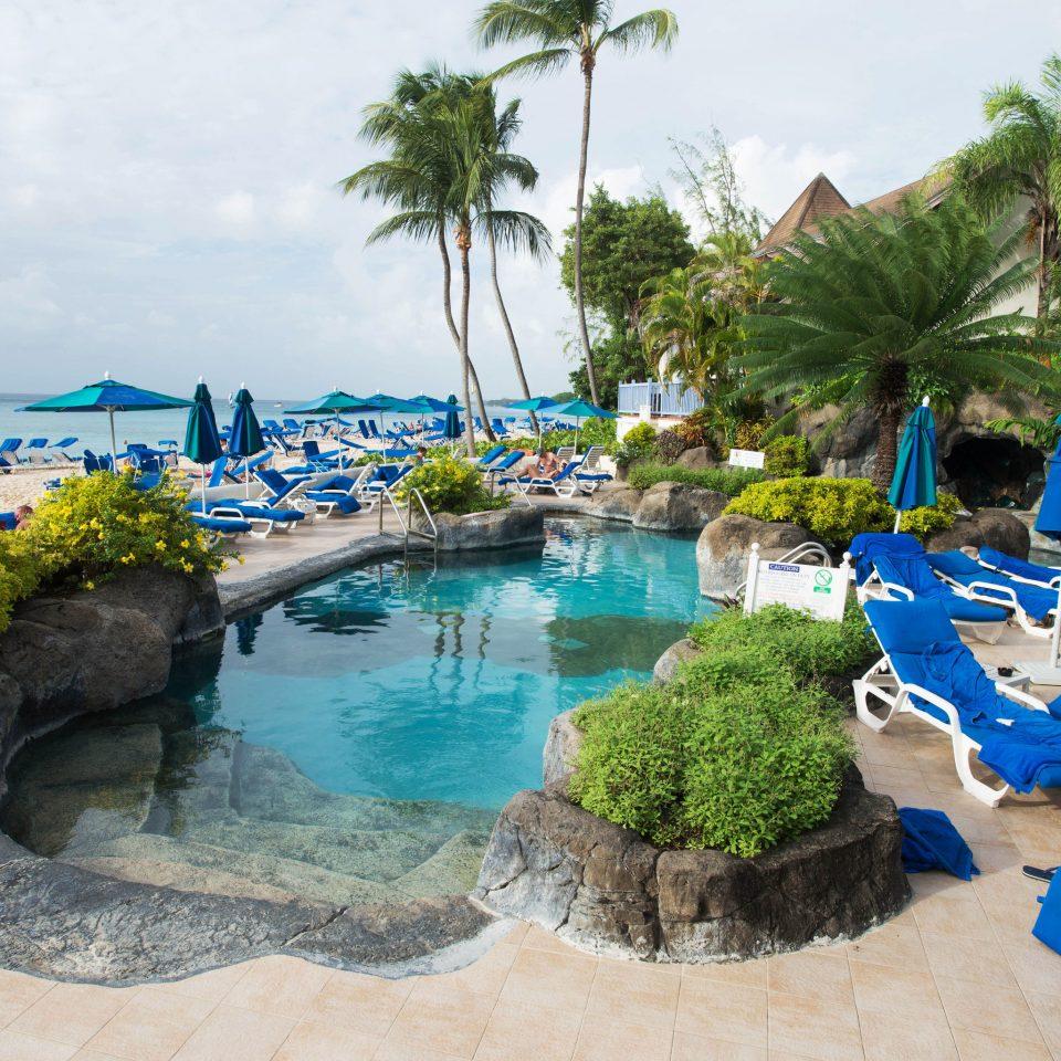tree umbrella leisure swimming pool Resort property Water park Beach Nature resort town caribbean