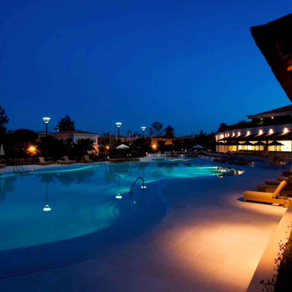 sky water swimming pool night Resort dusk Sea Ocean evening Beach light day