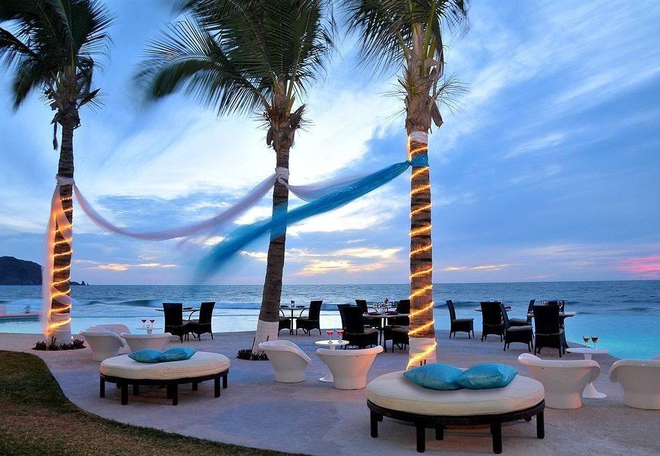 sky tree palm Resort Beach Ocean plant arecales caribbean Sea swimming pool palm family shore