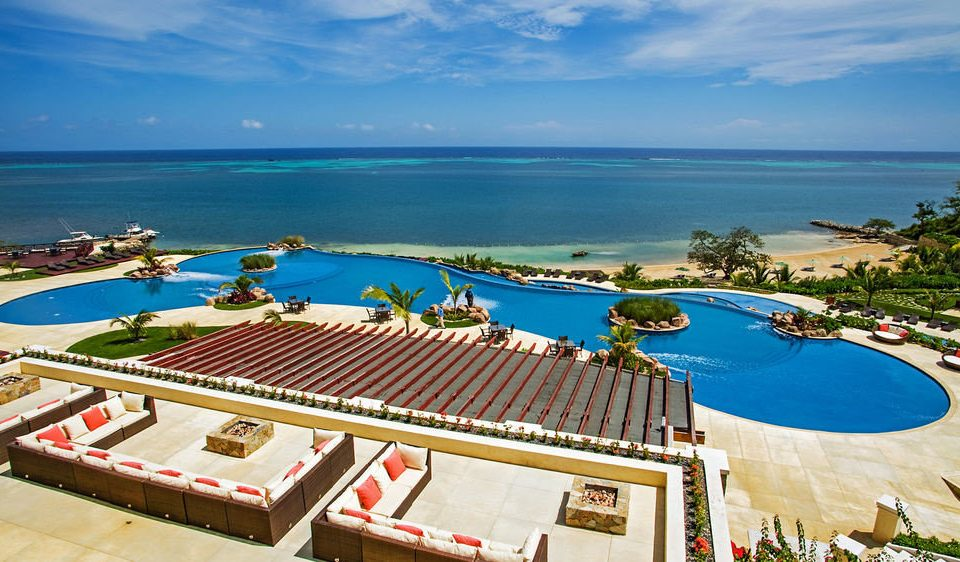 water sky leisure Resort swimming pool caribbean Beach Ocean Sea shore overlooking