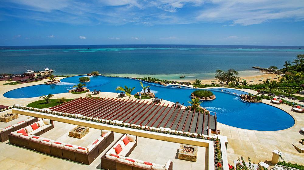water sky leisure Resort swimming pool caribbean Beach Ocean Sea shore overlooking