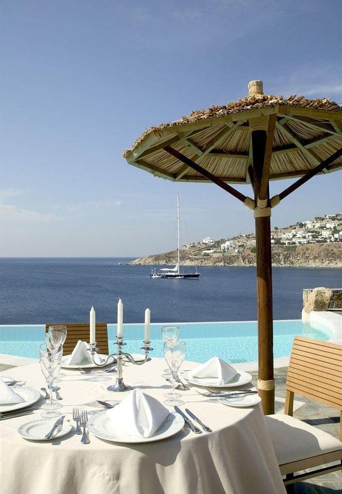 water sky chair Sea Ocean Beach caribbean restaurant Resort vehicle set shore