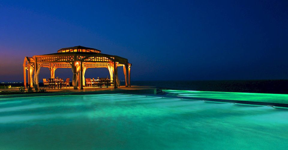 water Ocean Sea night horizon swimming pool Beach dusk evening Resort blue