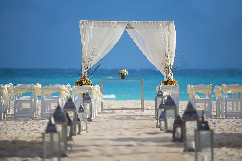 sky ground Beach blue Sea Ocean wedding ceremony sandy