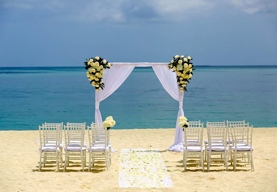 sky water Beach blue Sea Ocean yellow shore sand wedding ceremony pier sandy