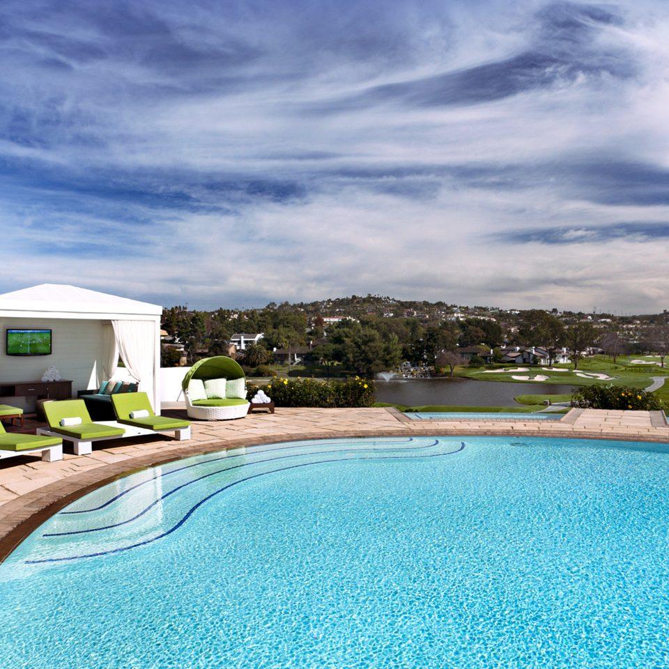 Patio Pool sky swimming pool property Beach Villa Resort backyard mansion shore swimming sandy