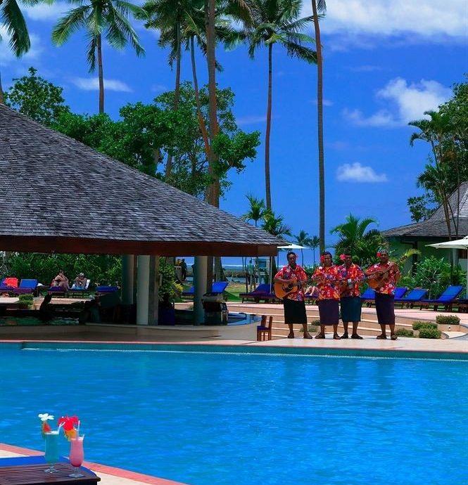 tree sky water leisure swimming pool Resort Beach Pool caribbean Sea arecales colorful swimming colored