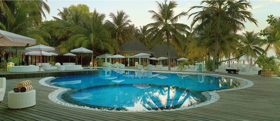 tree Resort Pool swimming pool palm blue property leisure Beach Villa resort town caribbean Water park eco hotel condominium swimming lined