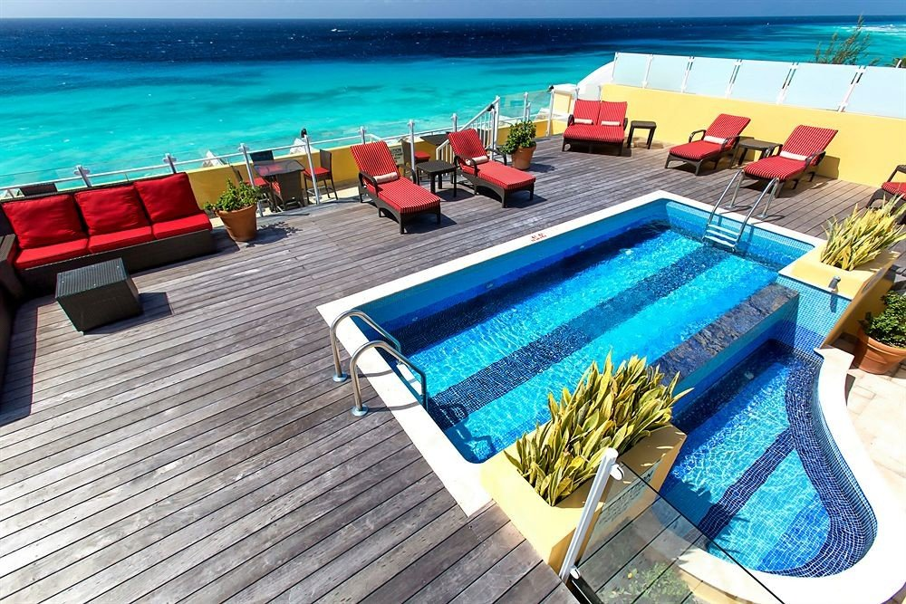 leisure swimming pool Beach Resort caribbean blue colorful