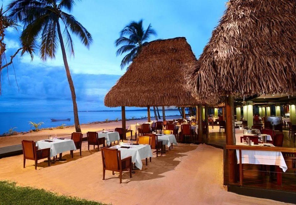 tree chair leisure Resort restaurant Beach caribbean palm roof