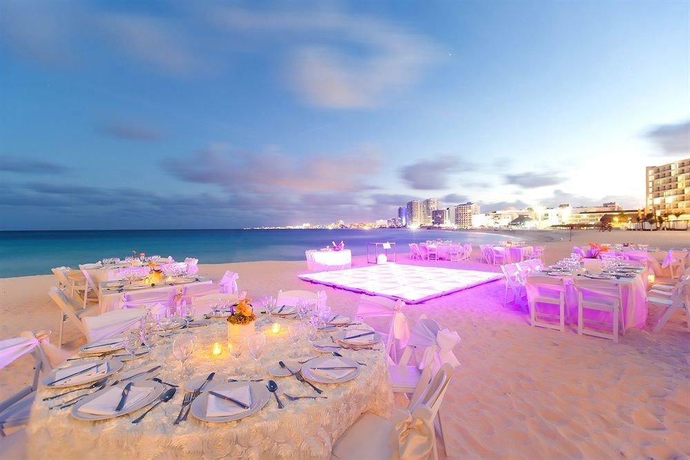 sky Beach Resort set shore colorful
