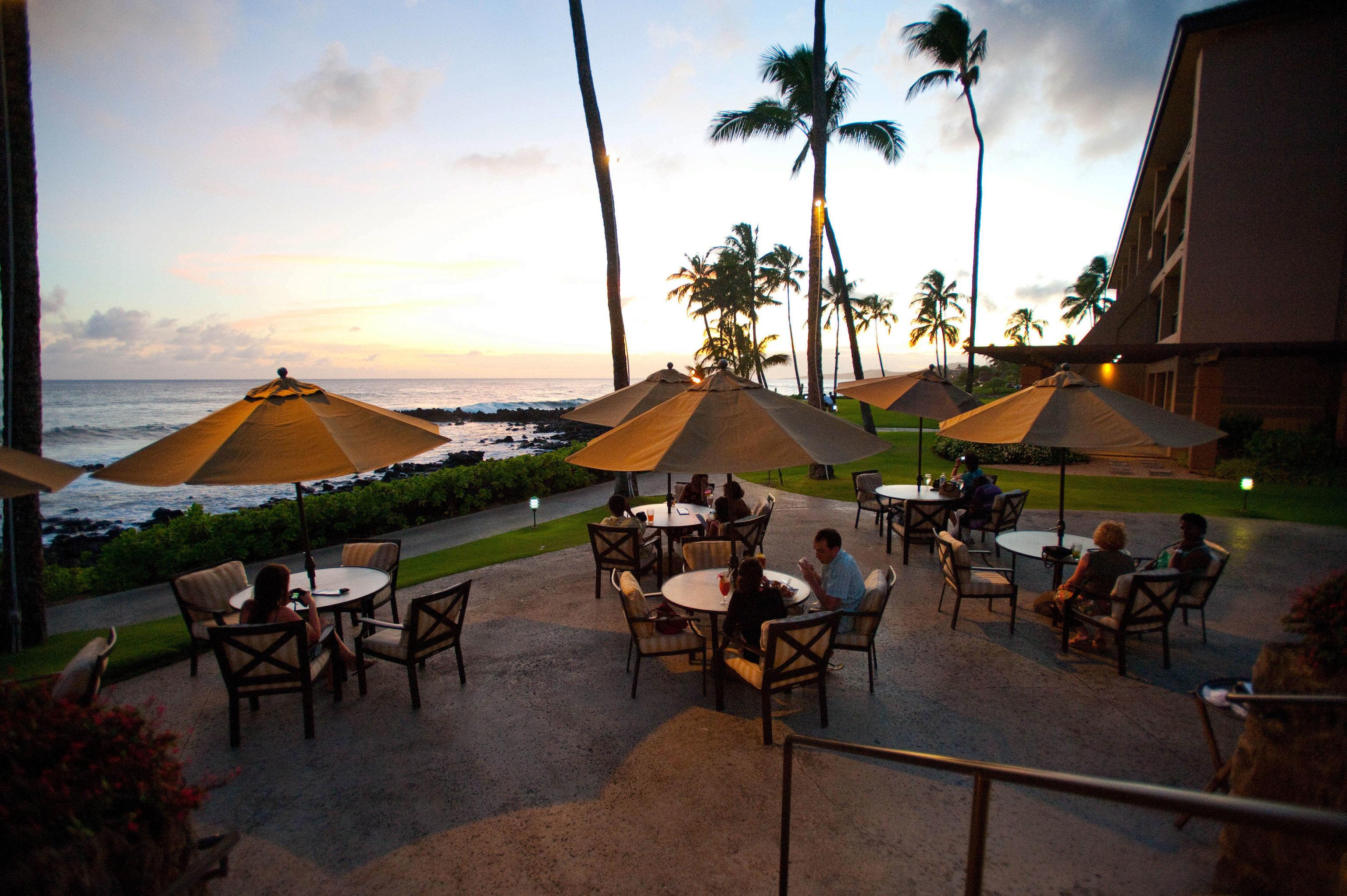 sky Resort evening restaurant Beach travel set lined