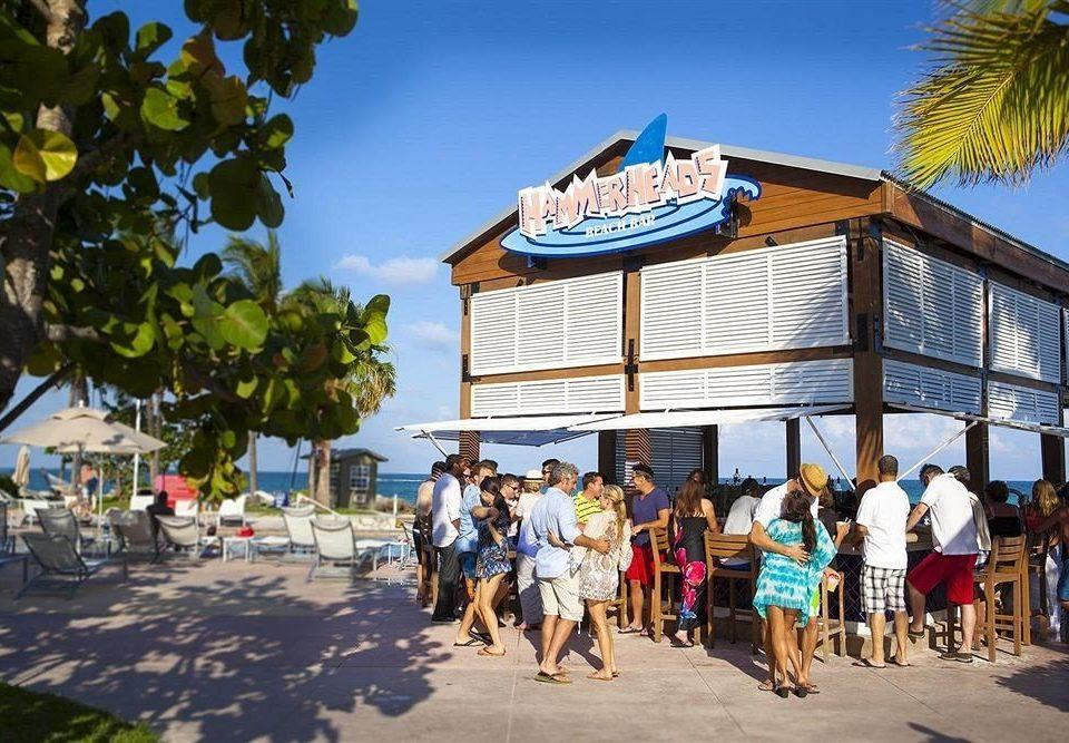 sky leisure Resort walkway group Beach fair festival