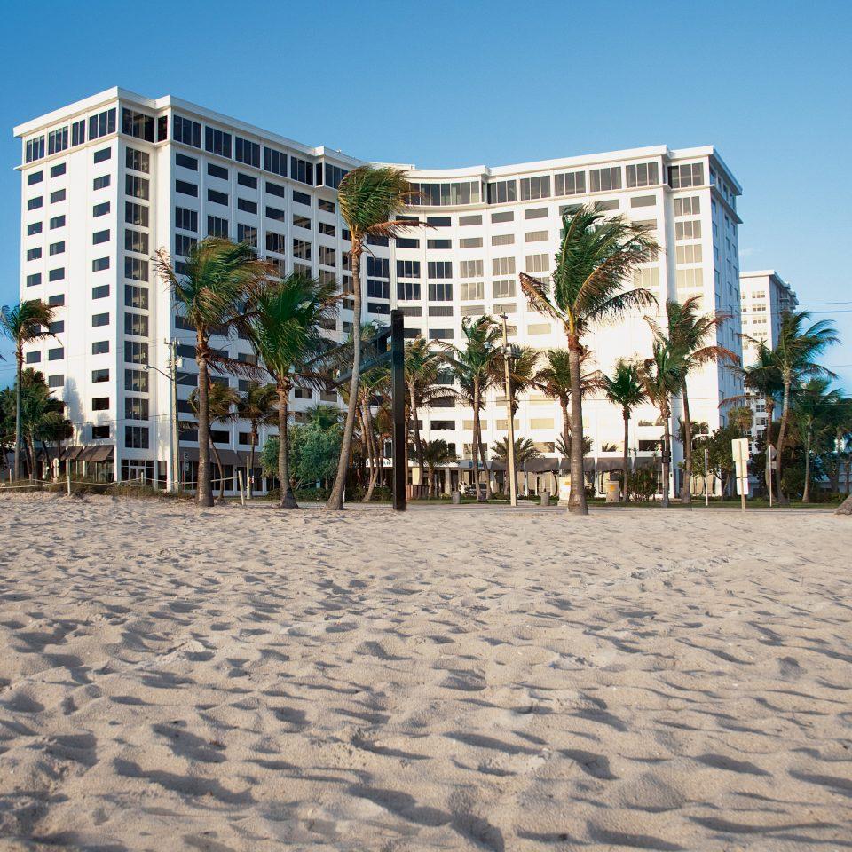 sky Beach walkway boardwalk Resort Sea sandy shore palm