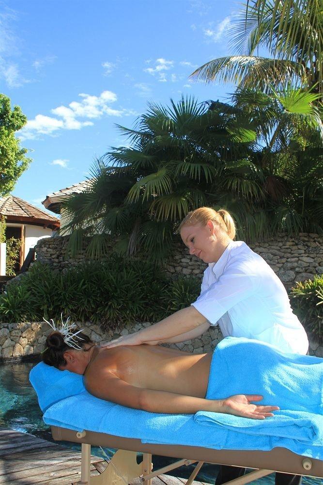 tree sky leisure swimming pool Beach caribbean sun tanning Resort Sea