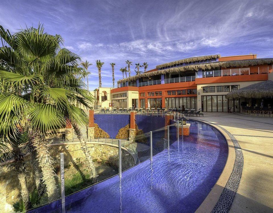 sky swimming pool Resort waterway walkway Beach Sea dock traveling railroad