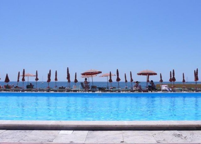 sky water swimming pool Beach Resort marina dock Sea panorama swimming