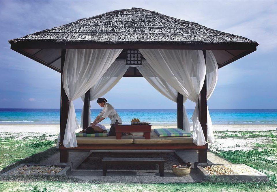 water sky Beach Resort Sea gazebo hut shore outdoor structure