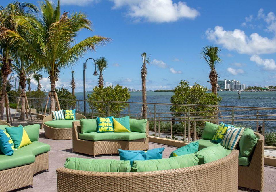 sky tree green leisure swimming pool property Resort Beach caribbean Villa arecales backyard Sea colorful plant palm colored
