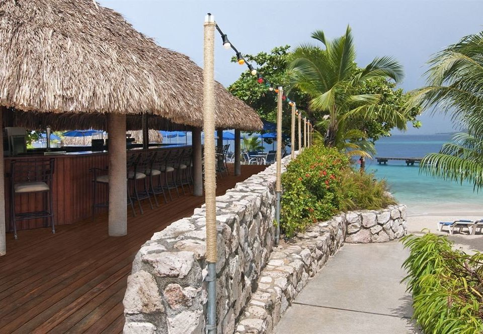 ground property walkway building Resort Beach Village roof home lined