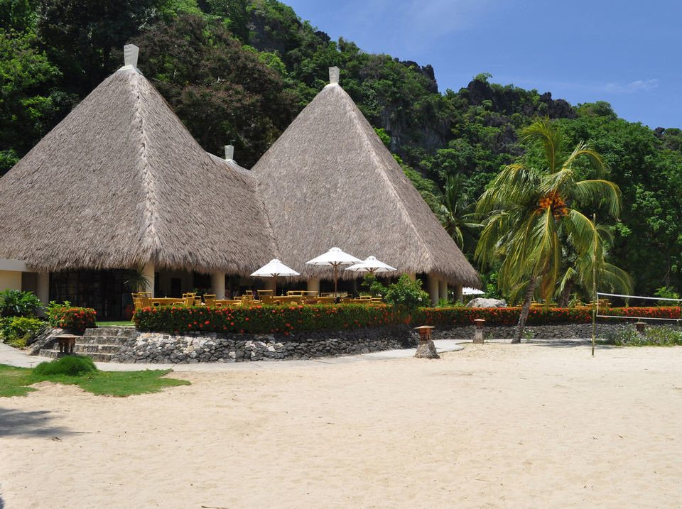 tree ground Beach monument hut Village Resort material thatching