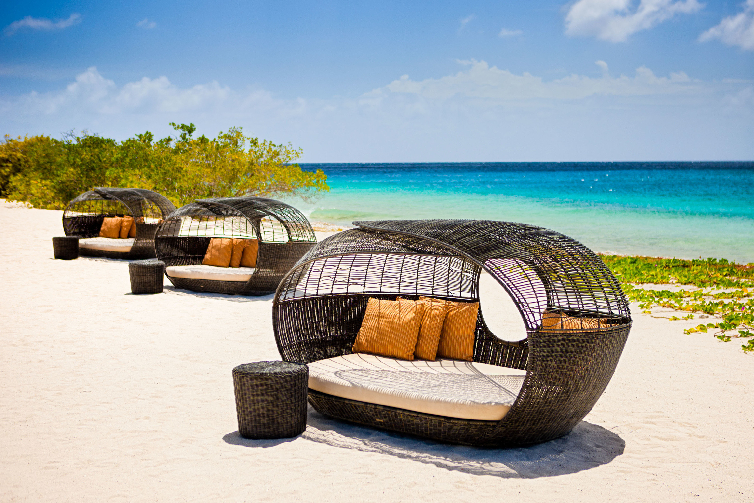sky water Beach outdoor furniture sunlounger Sea chair landscape product caribbean sand shore sandy