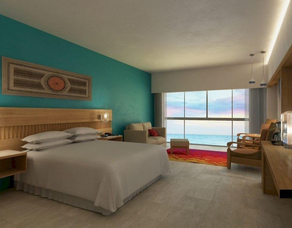 Beachfront Bedroom Elegant Luxury Modern Patio Scenic views Suite property condominium living room Villa