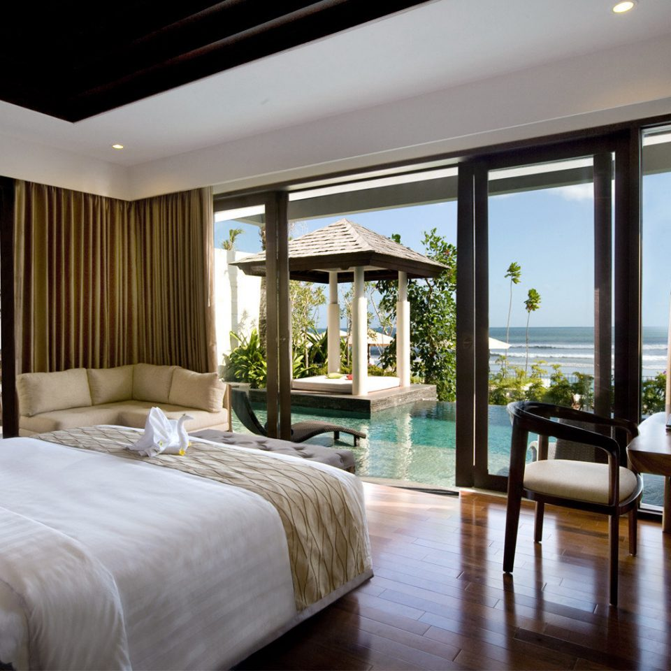 Beachfront Bedroom Elegant Modern Patio Scenic views property Resort Suite home condominium living room Villa mansion cottage